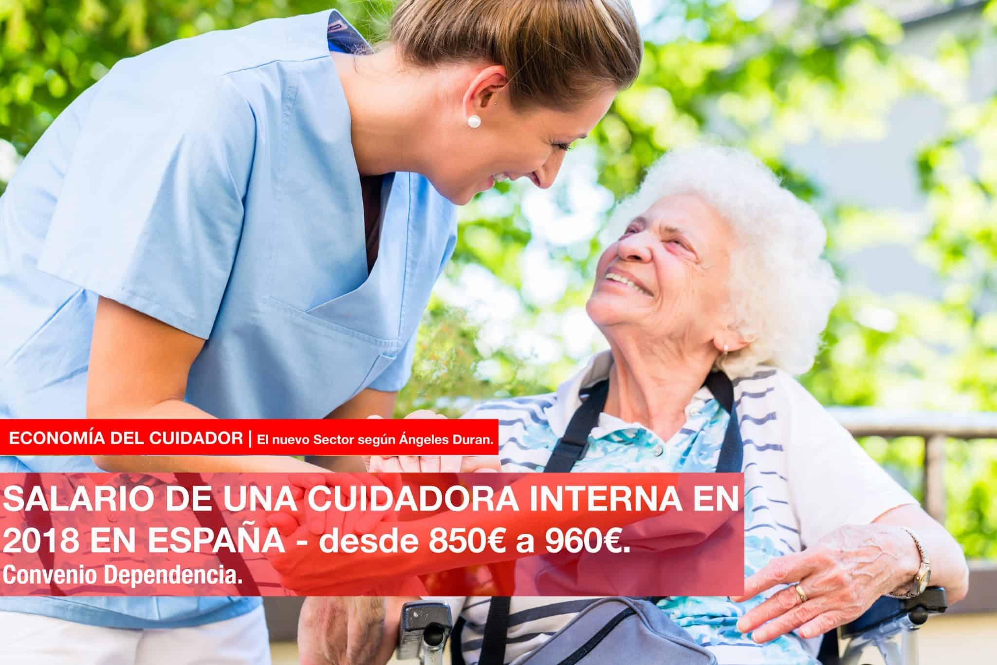 salario de una cuidadora interna en 2018